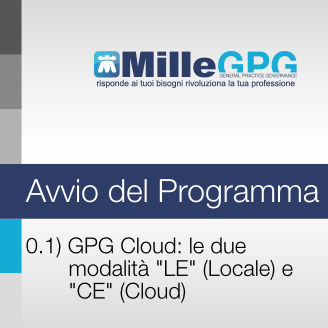 "MilleGPG Cloud: le due modalità ""LE"" (locale) e ""CE"" (Cloud)"