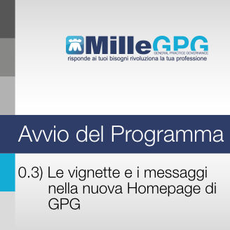 MilleGPG – Le vignette e i messaggi nella nuova Homepage di GPG