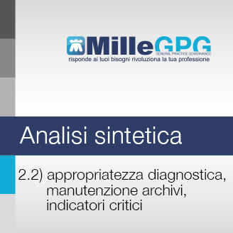 Appropriatezza diagnostica, manutenzione archivi, indicatori critici