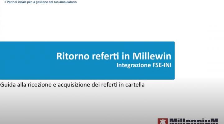 Sicilia: Integrazione FSE-INI – Ritorno referti nella cartella clinica Millewin